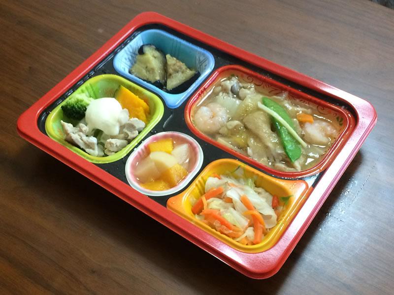 【食卓便の評判/口コミ】和・洋・中が食べる『八宝菜とチーズフォンデュ風』弁当