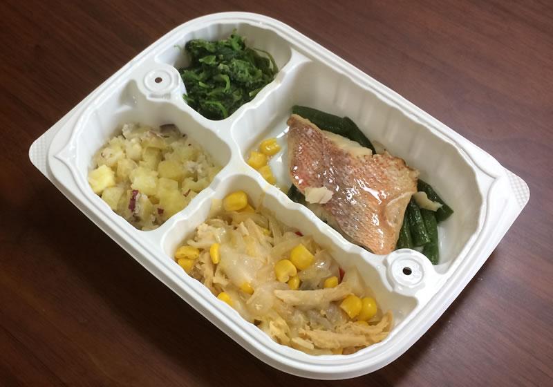 【ウェルネスダイニングの評判/口コミ】赤魚の塩焼き弁当のおかずはさっぱり系の和食です!