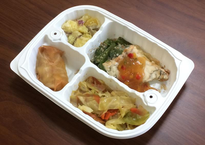 【ウェルネスダイニングの評判/口コミ】メバルの彩り中華ソース弁当は大満足のおかずばかりでした!