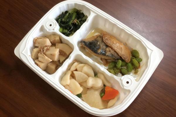 【ウェルネスダイニングの評判/口コミ】和食のメニューが詰まった「サバの味噌煮込み弁当」